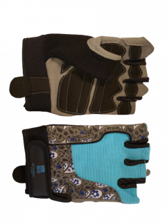 Fitness glove, turquoise / black